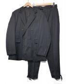 ALLEGE(アレッジ)の古着「ダブルジャケットセットアップ」|ブラック