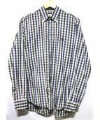 BURBERRY LONDON(バーバリーロンドン)の古着「チェックシャツ」 ネイビー