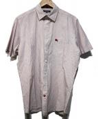BURBERRY LONDON(バーバリーロンドン)の古着「ストライプシャツ」 レッド