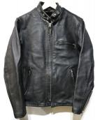 Schott(ショット)の古着「ライナーつきシングルライダースジャケット」 ブラック