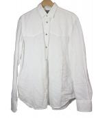 DIESEL(ディーゼル)の古着「刺繍リネンウエスタンシャツ」|ホワイト