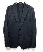 COMME CA MEN(コムサメン)の古着「ク-ルマックスニットジャケット」 ブラック