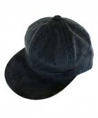 Hender Scheme(エンダースキーマ)の古着「2 tone cap corduroy」|ブラック