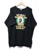 A BATHING APE(アベイシングエイプ)の古着「半袖スウェット」|ブラック