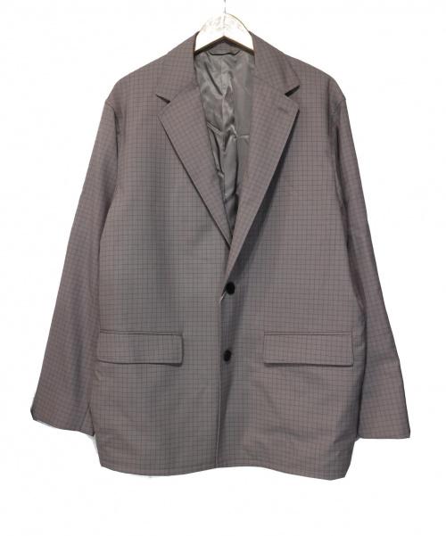 STEVEN ALAN(スティーヴンアラン)STEVEN ALAN (スティーブンアラン) WL GRAPH/CHECK NOTCHED LAPEL J ベージュ サイズ:L 定価¥34.000+taxの古着・服飾アイテム