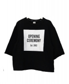 OPENING CEREMONY(オープニングセレモニー)の古着「半袖スウェット」|ブラック