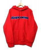 SUPREME(シュプリーム)の古着「Chenille Hooded Sweatshirt」 レッド