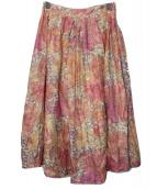 Spick and Span(スピック アンド スパン)の古着「総柄スカート」|レッド
