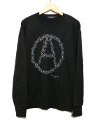 UNDERCOVER(アンダーカバー)の古着「ベアサークルスウェット」|ブラック