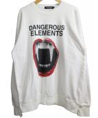 UNDERCOVER(アンダーカバー)の古着「クルーネックスウェット」 ホワイト
