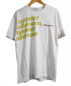 COMME des GARCONS PARFUMS(コムデギャルソン パフューム)の古着「プリントTシャツ」 ホワイト