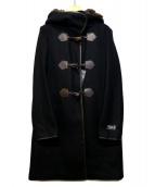 BEAUTY&YOUTH(ビューティアンドユース)の古着「メルトンファーフーデットコート」|ブラック