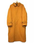 HARE(ハレ)の古着「ステンカラーコート」|オレンジ