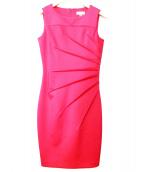Calvin Klein(カルバンクライン)の古着「ノースリーブワンピース」|ショッキングピンク