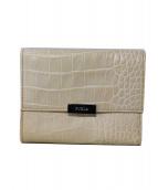FURLA(フルラ)の古着「2つ折り財布」 ベージュ