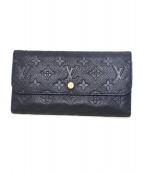 LOUIS VUITTON(ルイ・ヴィトン)の古着「3つ折り財布」|ネイビー