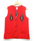 ORTEGAS(オルテガ)の古着「チマヨベスト」|レッド