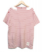 NIGEL CABOURN(ナイジェルケーボン)の古着「ボーダーバスクシャツ」|ホワイト×レッド