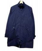 FRED PERRY(フレッドペリー)の古着「ライナー付ステンカラーコート」|ネイビー