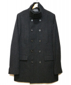 ALL SAINTS(オールセインツ)の古着「Pコート」|チャコールグレー