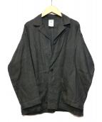 ORCIVAL(オーチバル)の古着「リネンクロスワークジャケット」|グレー
