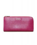 FURLA(フルラ)の古着「ラウンドファスナー財布」 ピンク