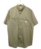 CarHartt(カーハート)の古着「Short-Sleeved Ridgefield Shirt」 カーキ
