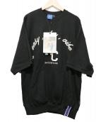 ROMANTIC CROWN(ロマンティック クラウン)の古着「半袖スウェット」|ブラック