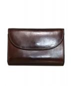Whitehouse Cox(ホワイトハウスコックス)の古着「ブライドルレザー3つ折り財布」|ブラウン