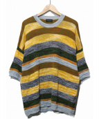 ROBERTO COLLINA(ロベルトコリーナ)の古着「綿・麻混紡サマーセーター」|イエロー