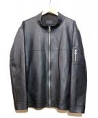 whiteland Blackburn(ホワイトランドブラックバーン)の古着「フェイクレザージャケット」|ブラック