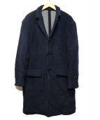 Rags McGREGOR(ラグスマックレガー)の古着「STAND COLLAR COAT」 ネイビー