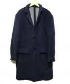 Rags McGREGOR(ラグス マクレガー)の古着「STAND COLLAR COAT」|ネイビー