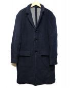 Rags McGREGOR(ラグスマックレガー)の古着「STAND COLLAR COAT」|ネイビー