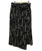 INDIVI(インディヴィ)の古着「ラップスカート」 ブラック