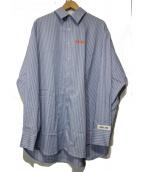 WHITELAND BLACKBURN(ホワイトランドブラックバーン)の古着「AL-FA STRIPE SHIRTS」|スカイブルー
