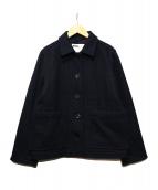 MHL(エムエイチエル)の古着「OUGH WOOL MELTON ショートコート」|ブラック