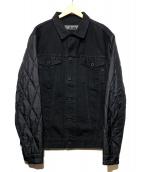 REPLAY(リプレイ)の古着「切替デニムジャケット」 ブラック