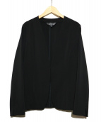 INDIVI(インディヴィ)の古着「2WAYカラーレスジャケット」 ブラック
