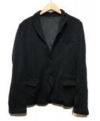 COMME des GARCONS HOMME(コムデギャルソンオム)の古着「コットン混紡ポリエステル縮絨 テーラードジャケット」|ブラック