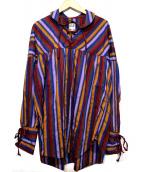 AiE(エーアイイー)の古着「String Shirt」 パープル