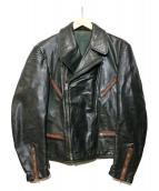 VINTAGE(ヴィンテージ)の古着「レザージャケット」|ブラック