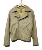 JOHN'S(ジョンズ)の古着「ライダースジャケット」|ベージュ