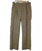 BARRY BRICKEN(バリーブリッケン)の古着「チェックパンツ」|ベージュ
