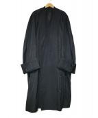 Essay(エッセイ)の古着「Oversized collar less coat」|ブラック