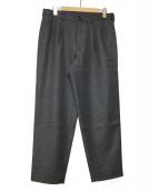 EN ROUTE(アンルート)の古着「WOOL SERGE 3TUCK PANTS」|グレー