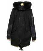 Danke schon(ダンケシェーン)の古着「ウールフーデットコート」|ブラック