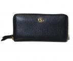 GUCCI(グッチ)の古着「ラウンドファスナー財布」|ブラック