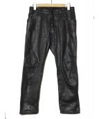 DSQUARED2(ディースクエアード)の古着「コーティングデニムパンツ」|ブラック