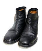 FACTOTUM(ファクトタム)の古着「サイドジップブーツ」 ブラック